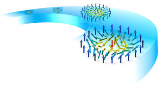 "Today's world, rapidly changing because of ""big data"", is encapsulated in trillions of tiny magnetic objects – magnetic bits – each of which stores one bit of data in magnetic disk drives.   A group of scientists from the Max Planck Institutes in Halle and Dresden have discovered a new kind of magnetic nano-object in a novel material that could serve as a magnetic bit with cloaking properties to make a magnetic disk drive with no moving parts – a Racetrack Memory – a reality in the near future."