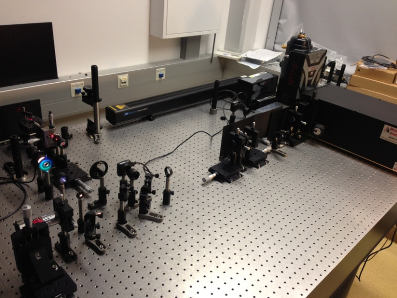 Figure 2: Raman optical confocal microscope system for in situ high pressure Raman spectroscopy