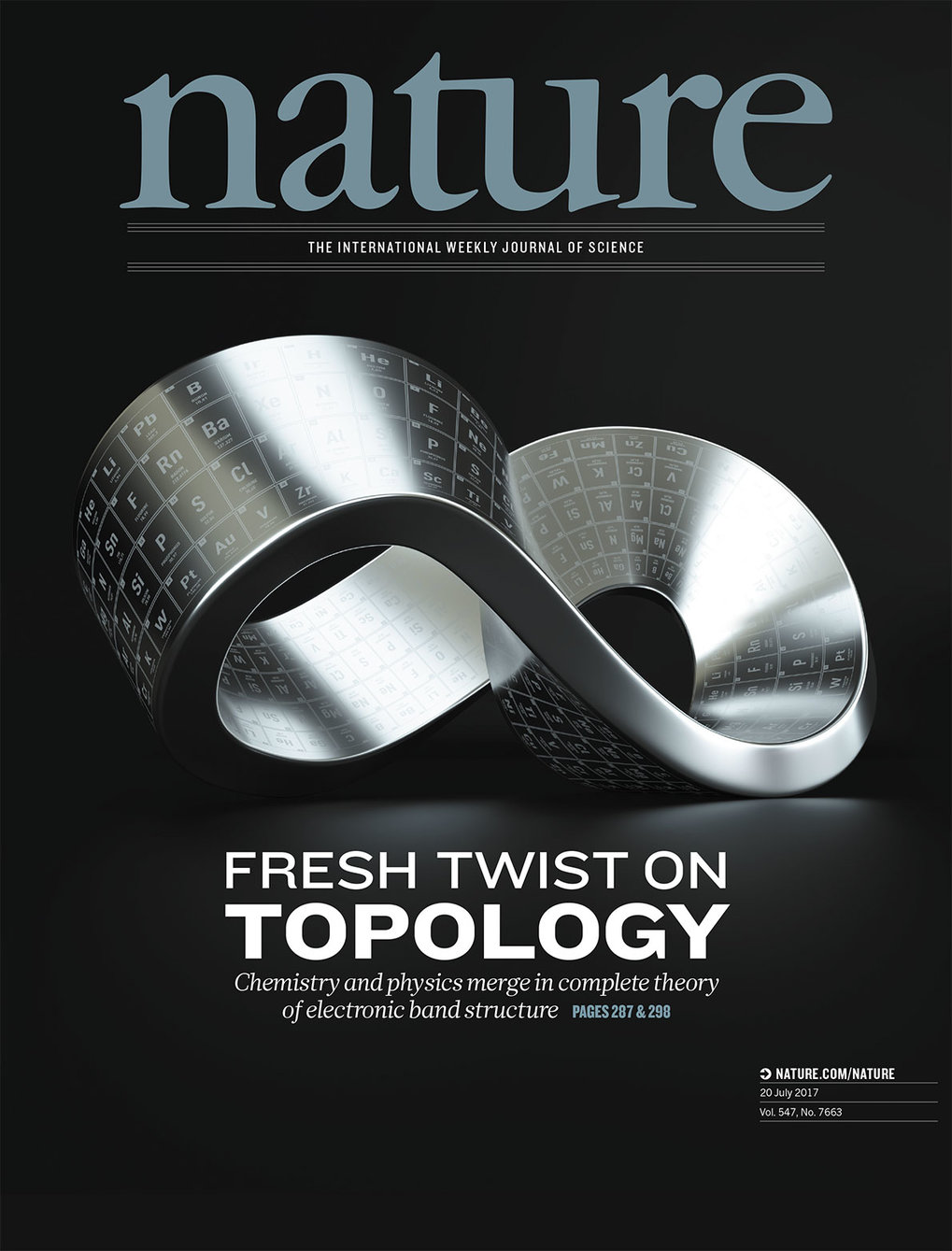 The study was featured on the cover of the journal <em>Nature</em>.
