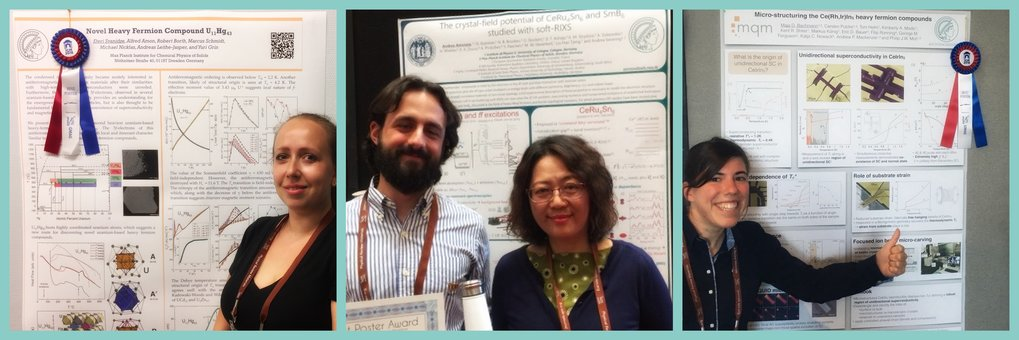 <em>Figure I: Recipients of the 2018 ICM Best Poster Awards. Left to right: Dr. Eteri Svanidze, Dr. Andrea Amorese, and Maja Bachmann</em>