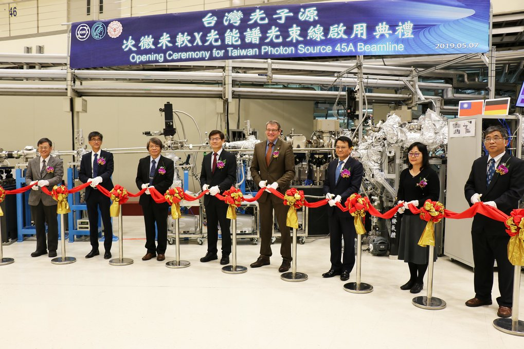 The newly constructed MPI-NSRRC TPS 45A beamline has been inaugurated on 7-May-2019 in the presence of the German Ambassador in Taiwan and the Deputy Minister of the Taiwan Ministry of Science and Technology.