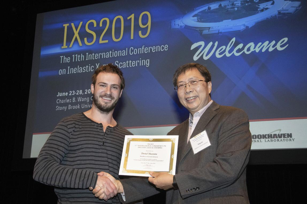 Dr. Brett Leedahl was awarded with the Poster Session Award at the 11th International Conference on Inelastic X-ray Scattering (IXS 2019) held at Stony Brook, USA, in 24-28 June 2019.